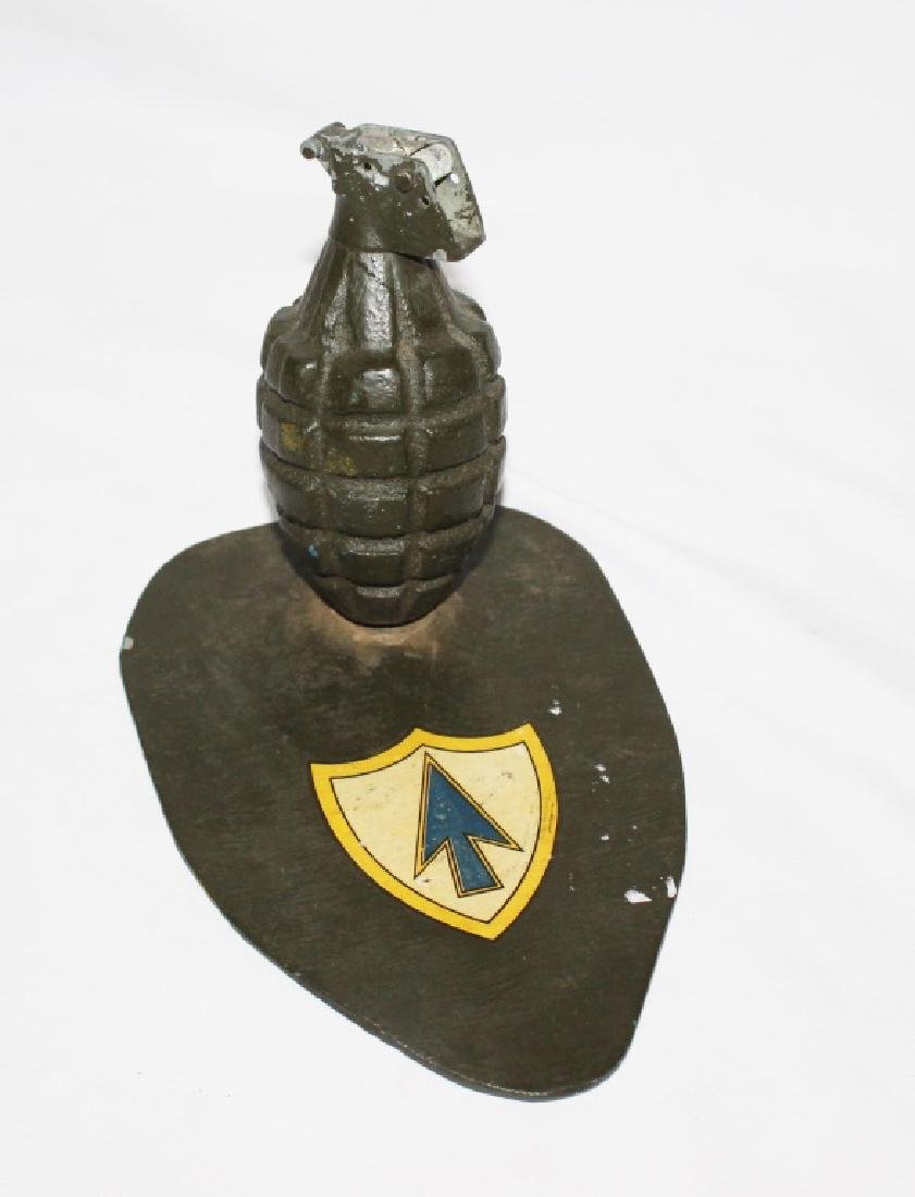 Military Dummy Grenade on Stand