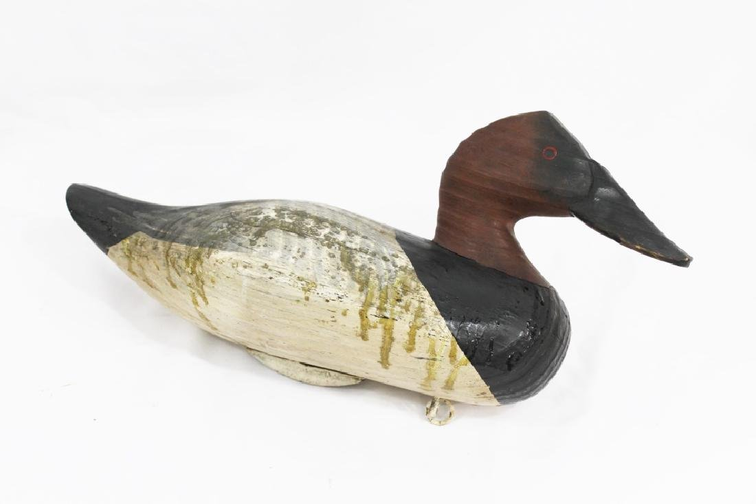 Signed Charles Jobes Canvas Back Duck Decoy