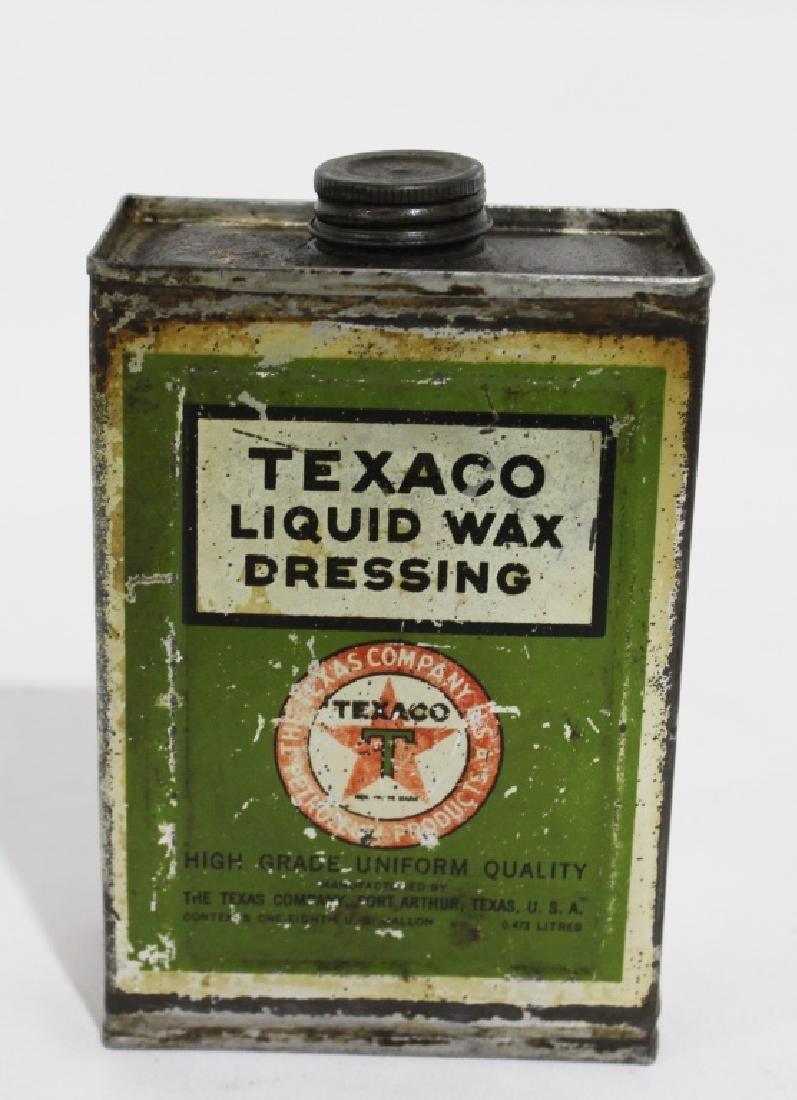 Texaco Liquid Wax Dressing - Vintage Metal Can