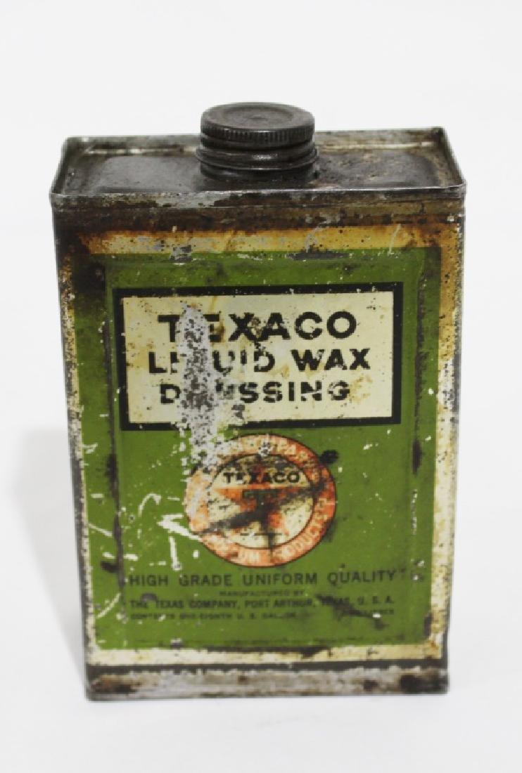 Texaco Liquid Wax Dressing - Vintage Metal Can - 2