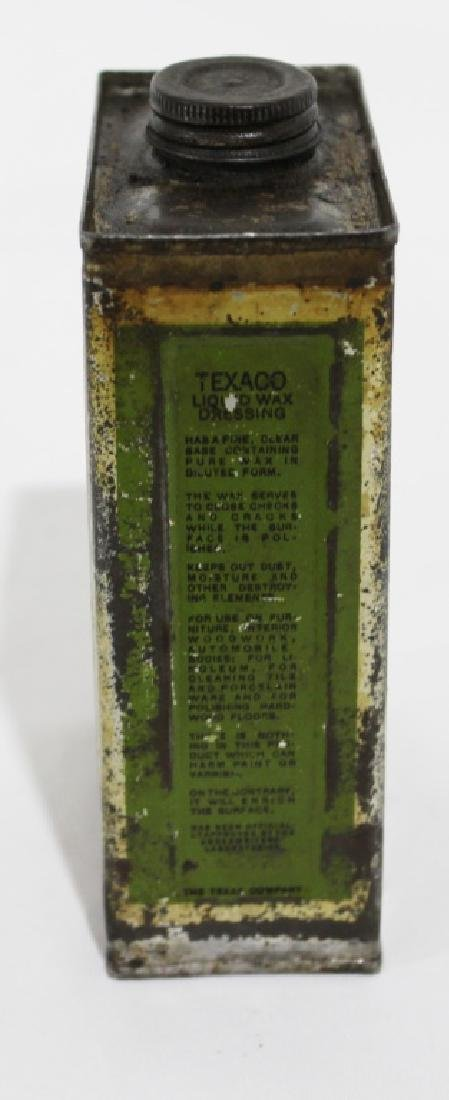 Texaco Liquid Wax Dressing - Vintage Metal Can - 3