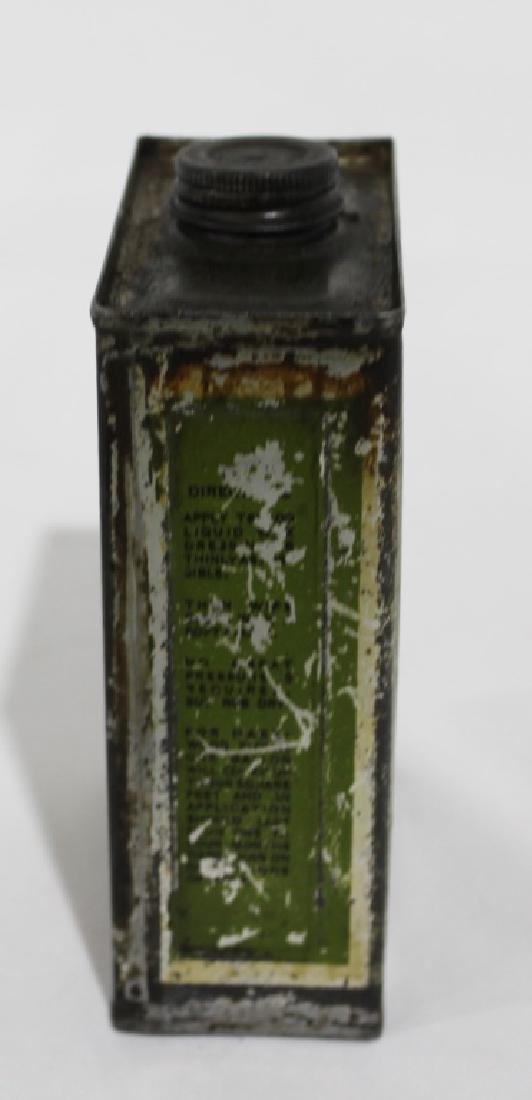 Texaco Liquid Wax Dressing - Vintage Metal Can - 4