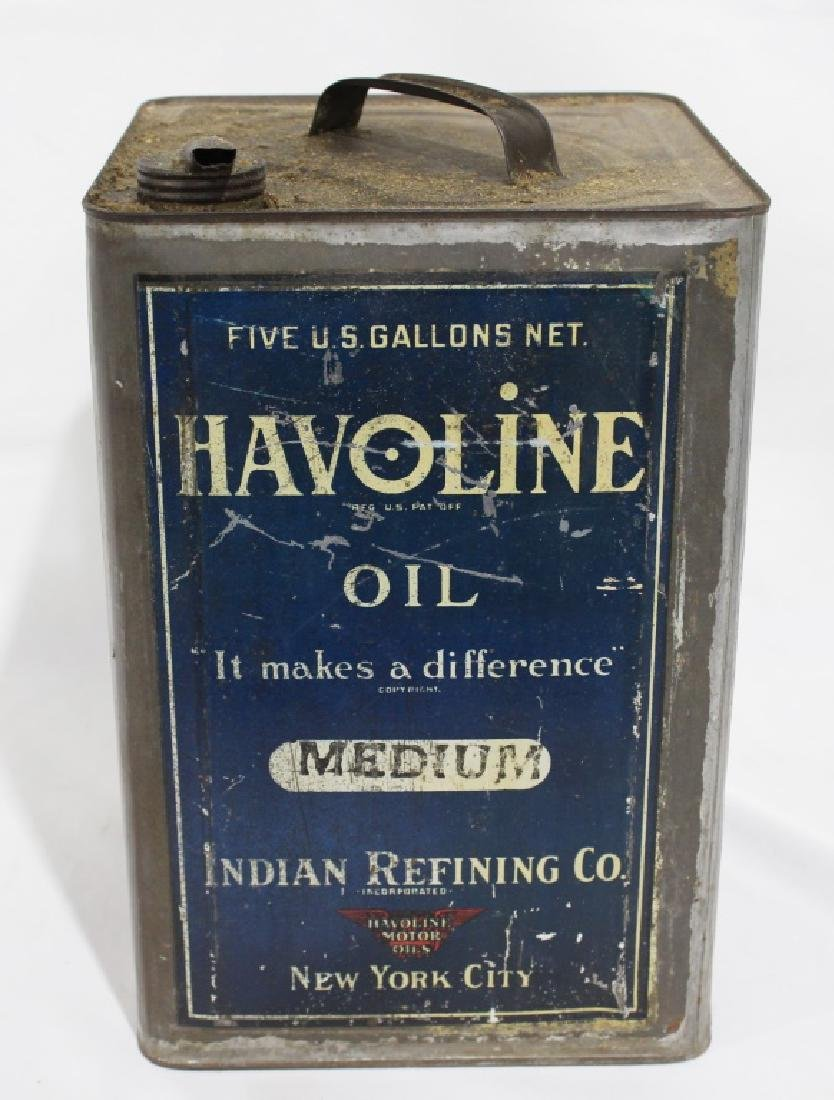 Havoline Oil - Indian Refining Co - 5 Gallon Can