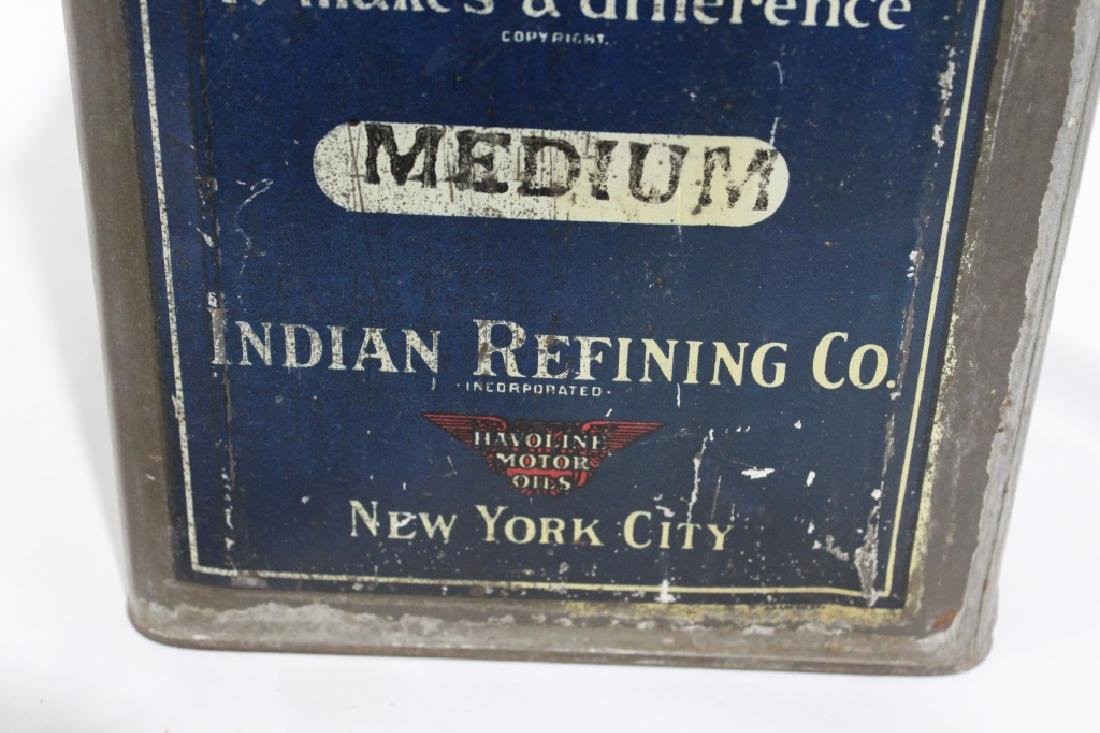 Havoline Oil - Indian Refining Co - 5 Gallon Can - 2