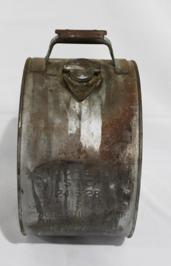 Vintage 2-sided Tiolene Motor Oil - 5 Gallon Rocker Can - 2
