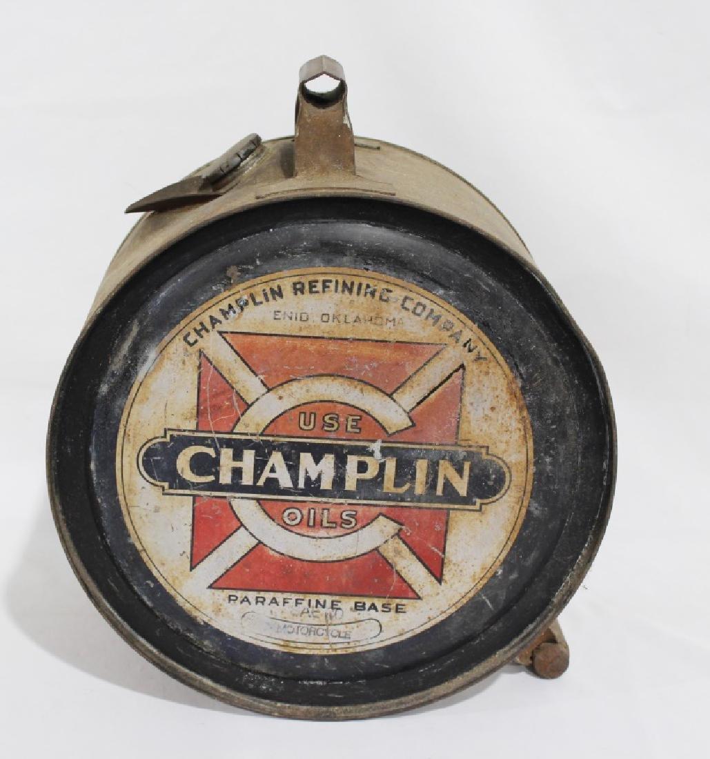 Rare 1920s Champlin 5 Gallon Oil Rocker for Motorcycles