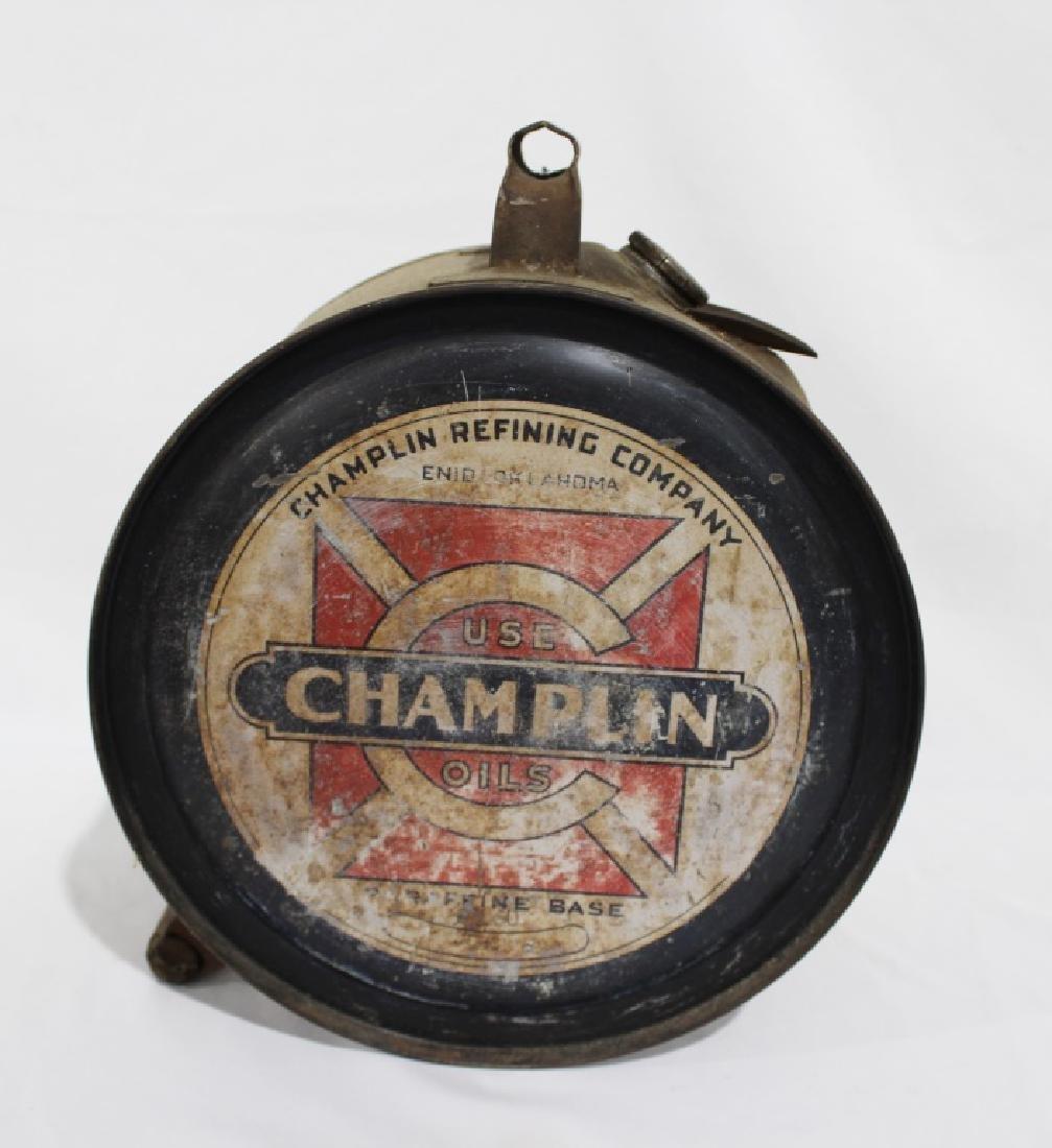 Rare 1920s Champlin 5 Gallon Oil Rocker for Motorcycles - 4