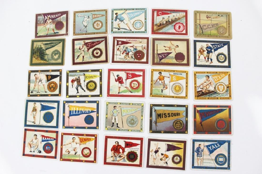 Murad Cigarette Cards - College Series Set 1-25