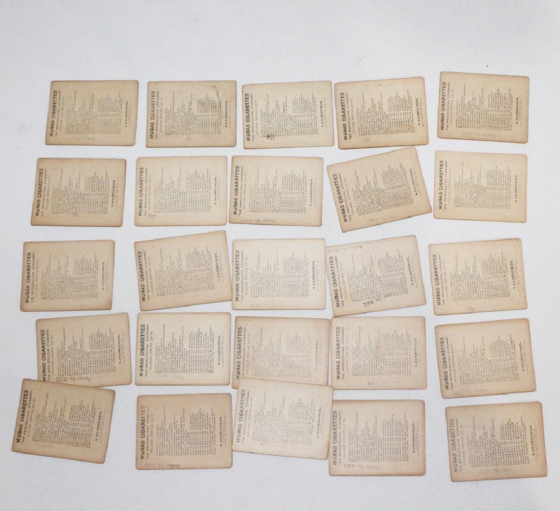 Murad Cigarette Cards - College Series Set 26-50 - 2