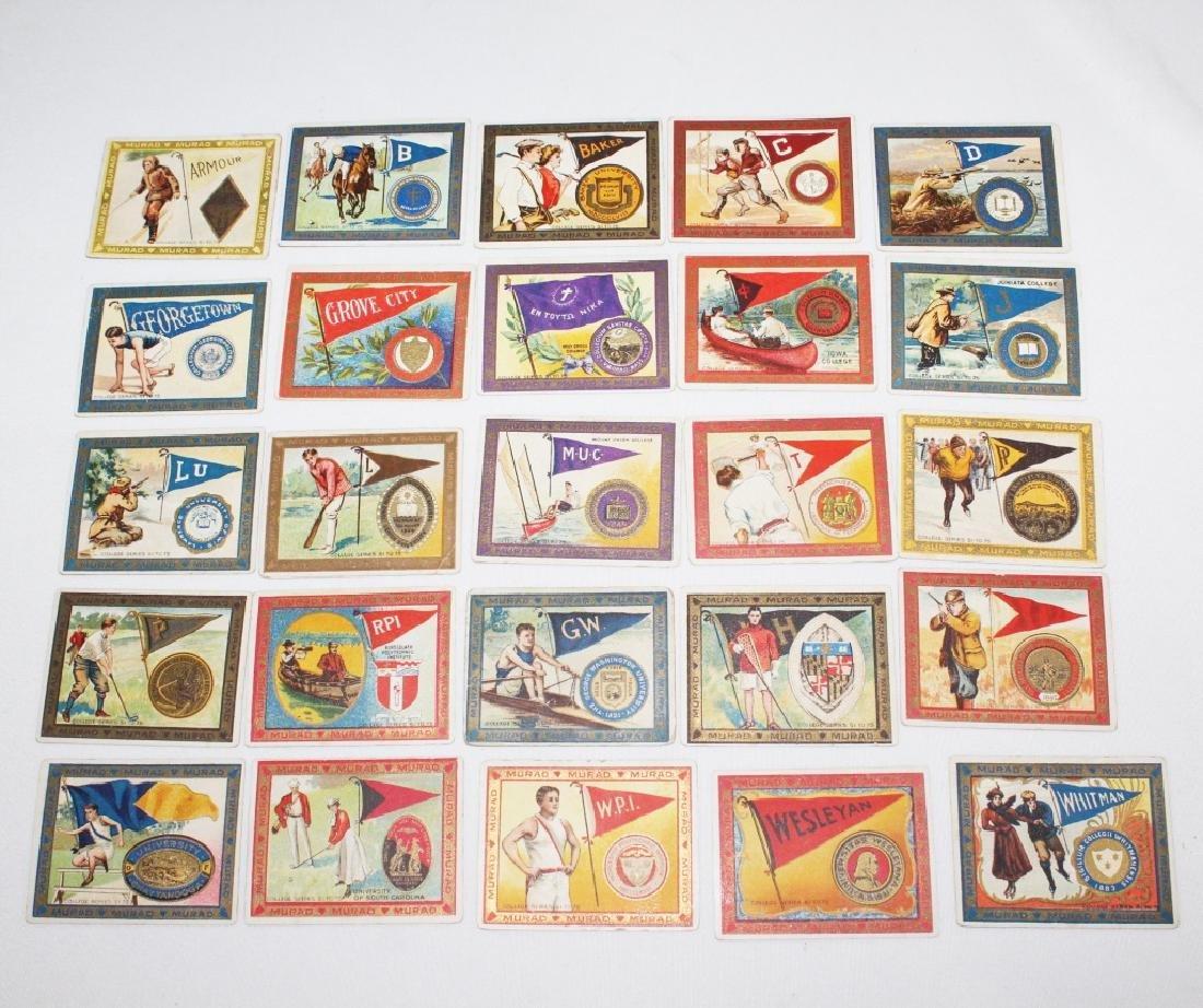 Murad Cigarette Cards - College Series Set 51-75