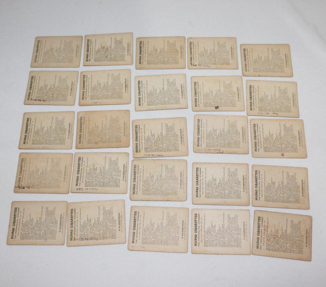 Murad Cigarette Cards - College Series Set 51-75 - 2