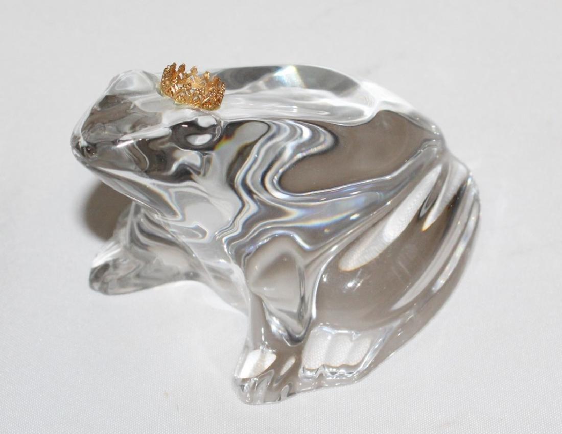 Baccarat Crystal Frog Prince - 2