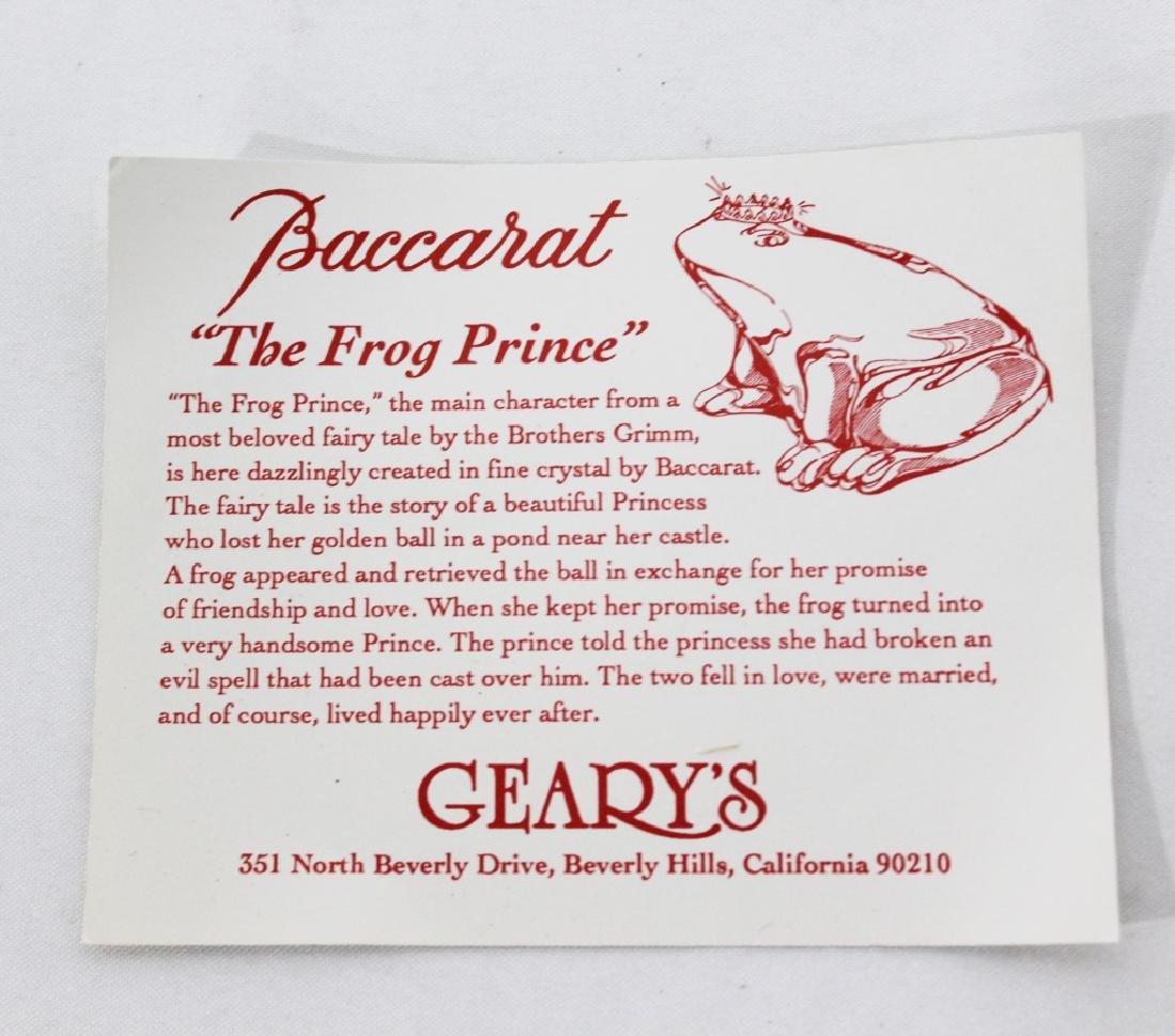 Baccarat Crystal Frog Prince - 3