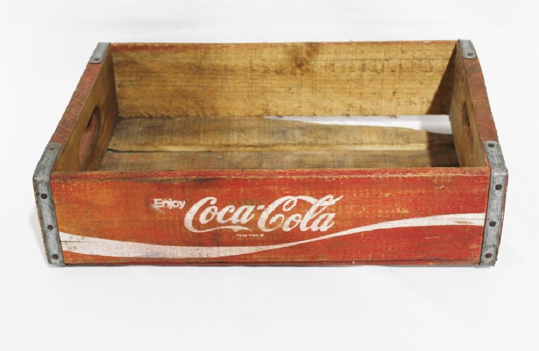 Vintage Red Wooden Coca Cola Crate