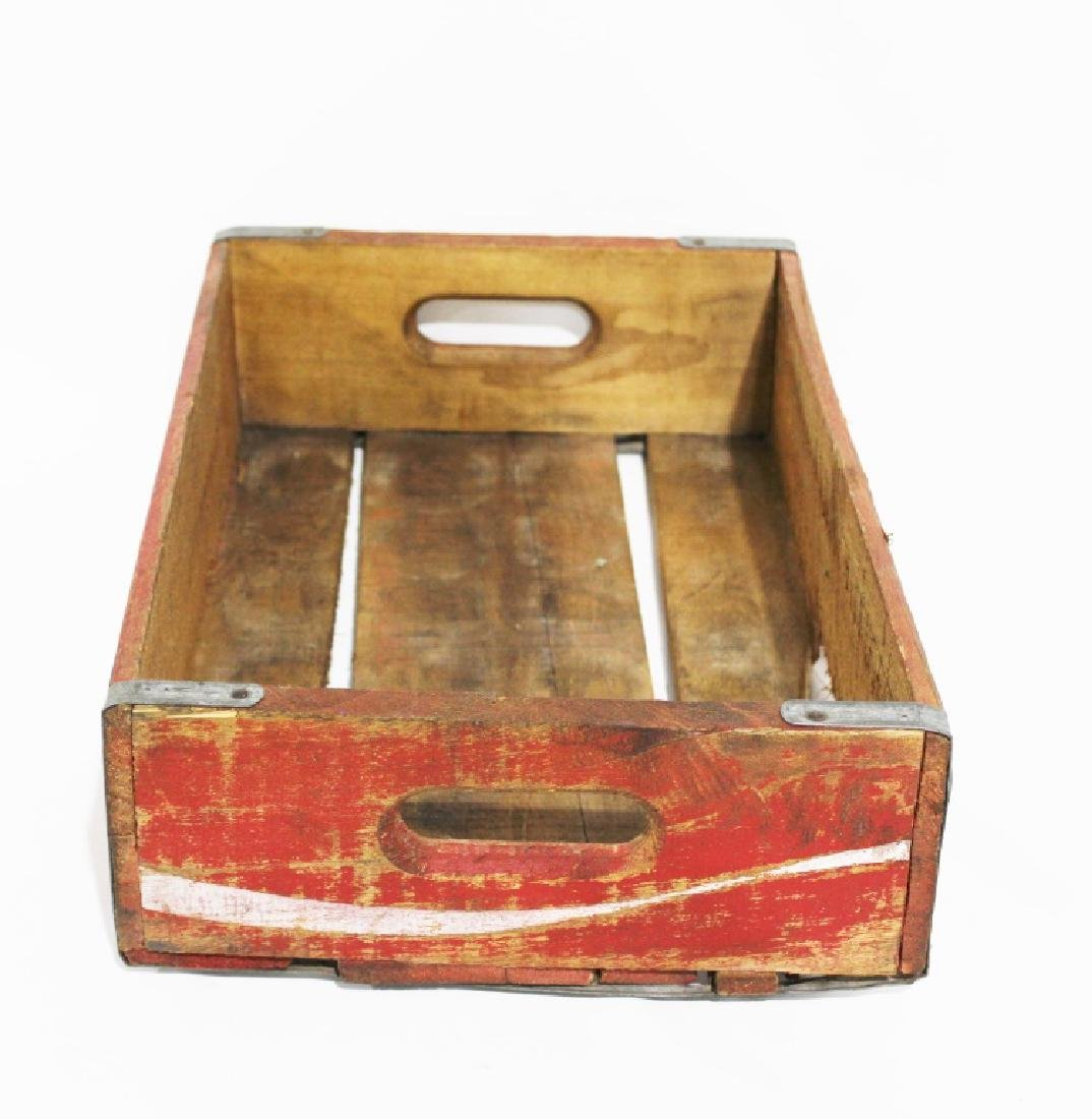 Vintage Red Wooden Coca Cola Crate - 2
