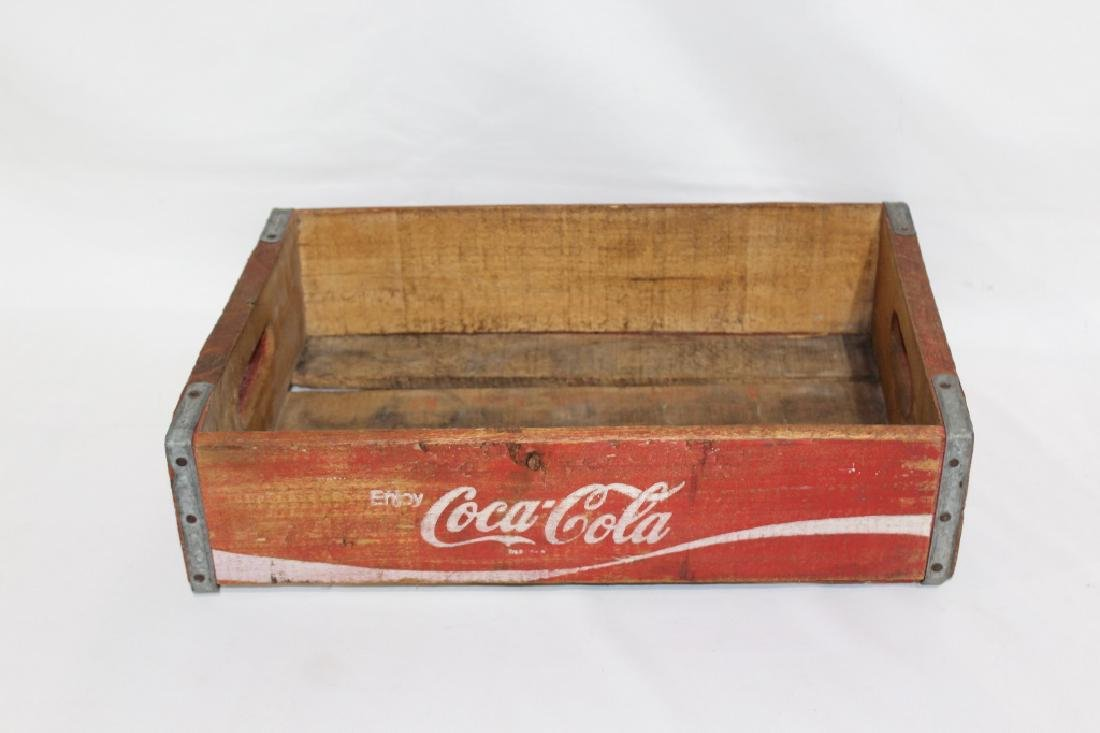 Vintage Red Wooden Coca Cola Crate - 3