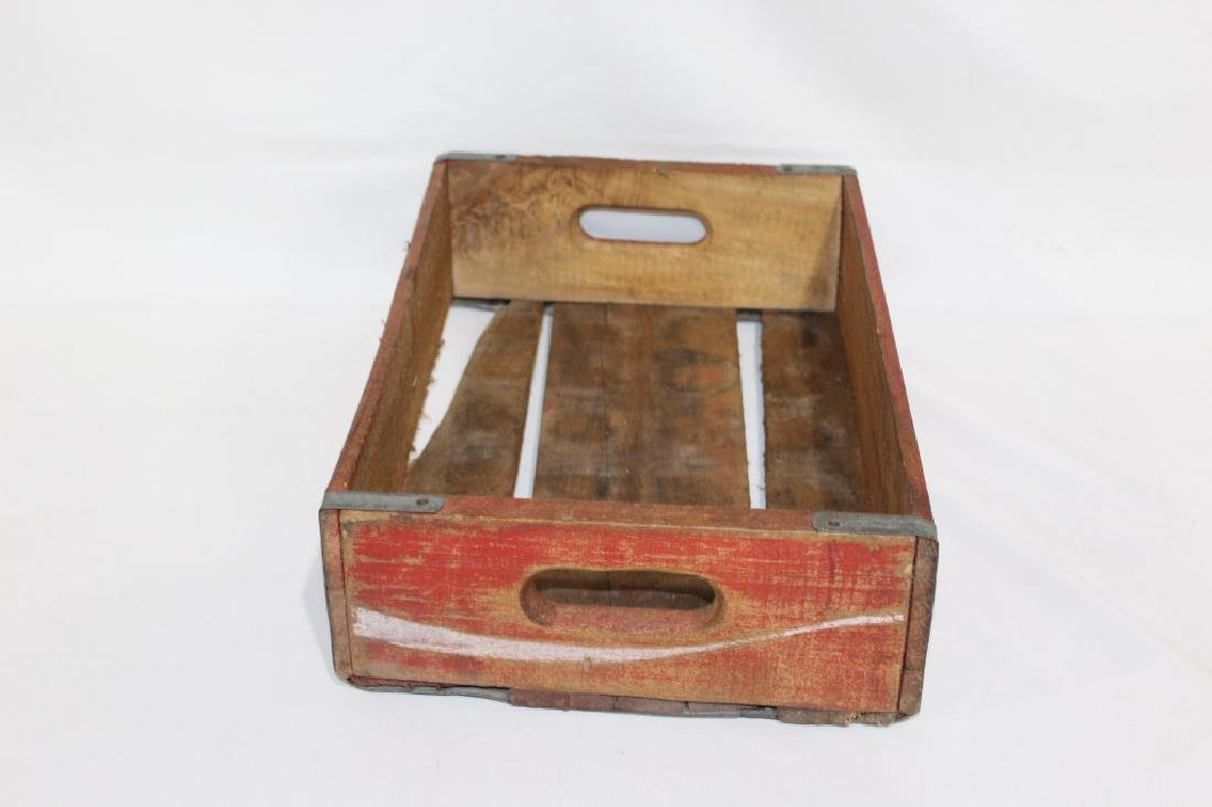 Vintage Red Wooden Coca Cola Crate - 4