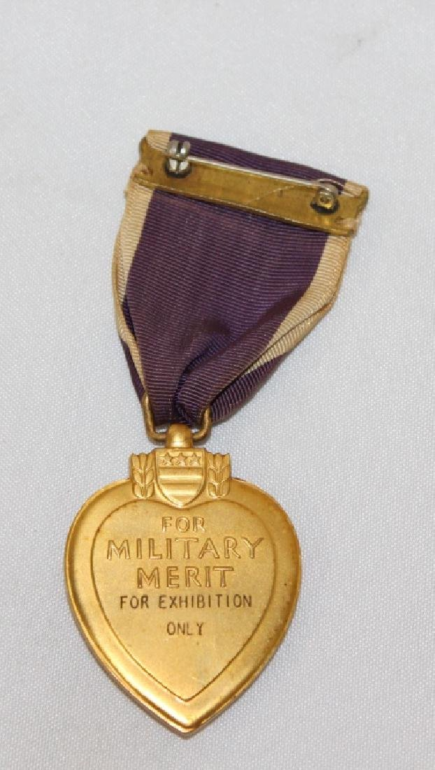 Purple Heart Medal - For Exhibit Only - 2