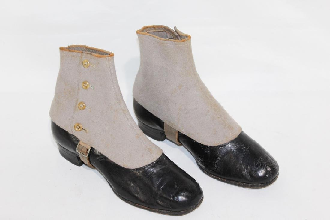 Early Pair of Endicott Johnson Boots with Covers
