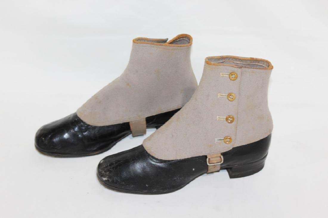 Early Pair of Endicott Johnson Boots with Covers - 2