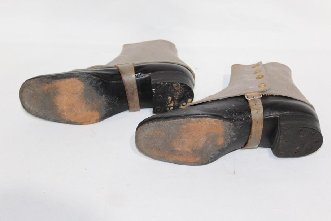 Early Pair of Endicott Johnson Boots with Covers - 3