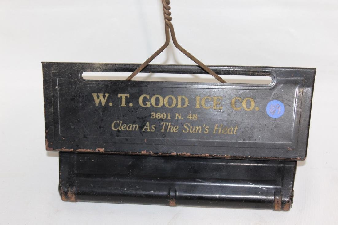 Early Metal Dustpan - W.T. Good Ice Co. Advertisement - 2