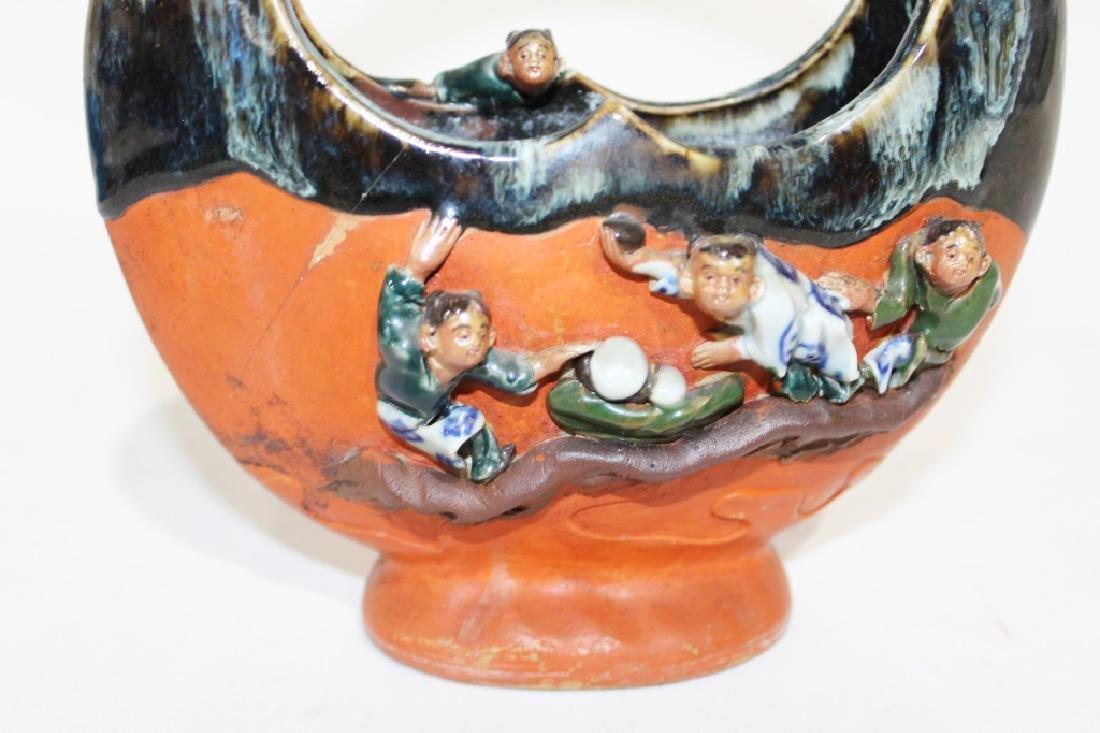 Sumida Gawa - Handled Vase with Boys - 2