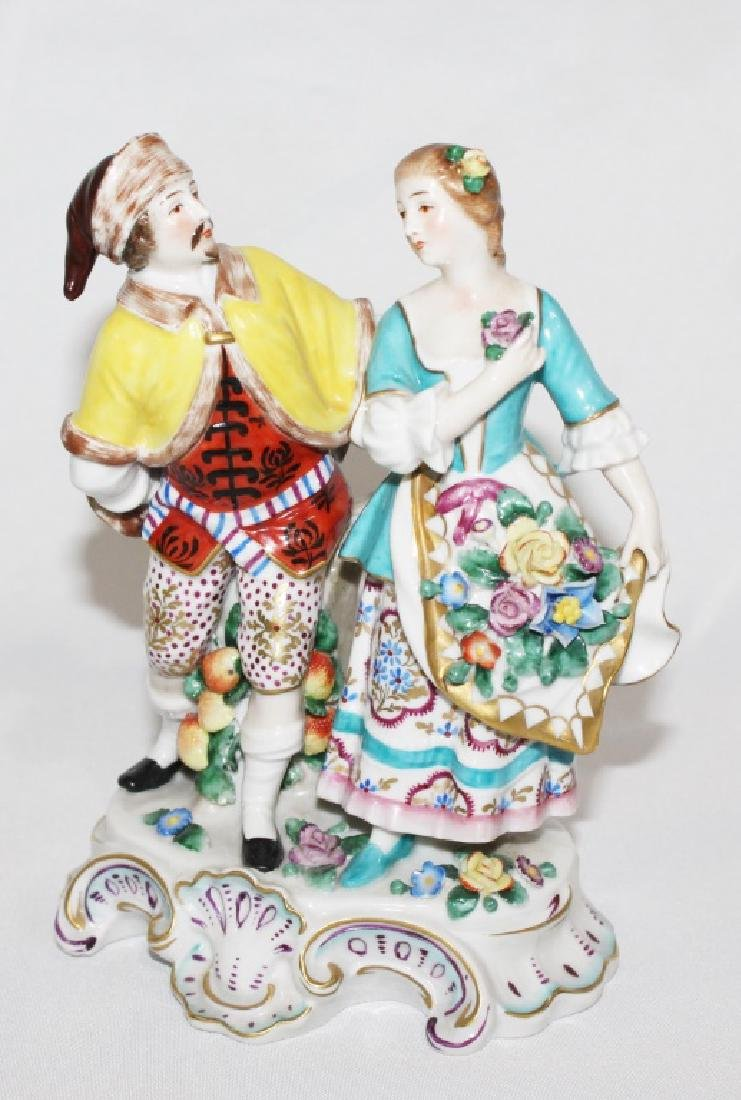 Sitzendorf Porcelain Figruine of Courting Couple