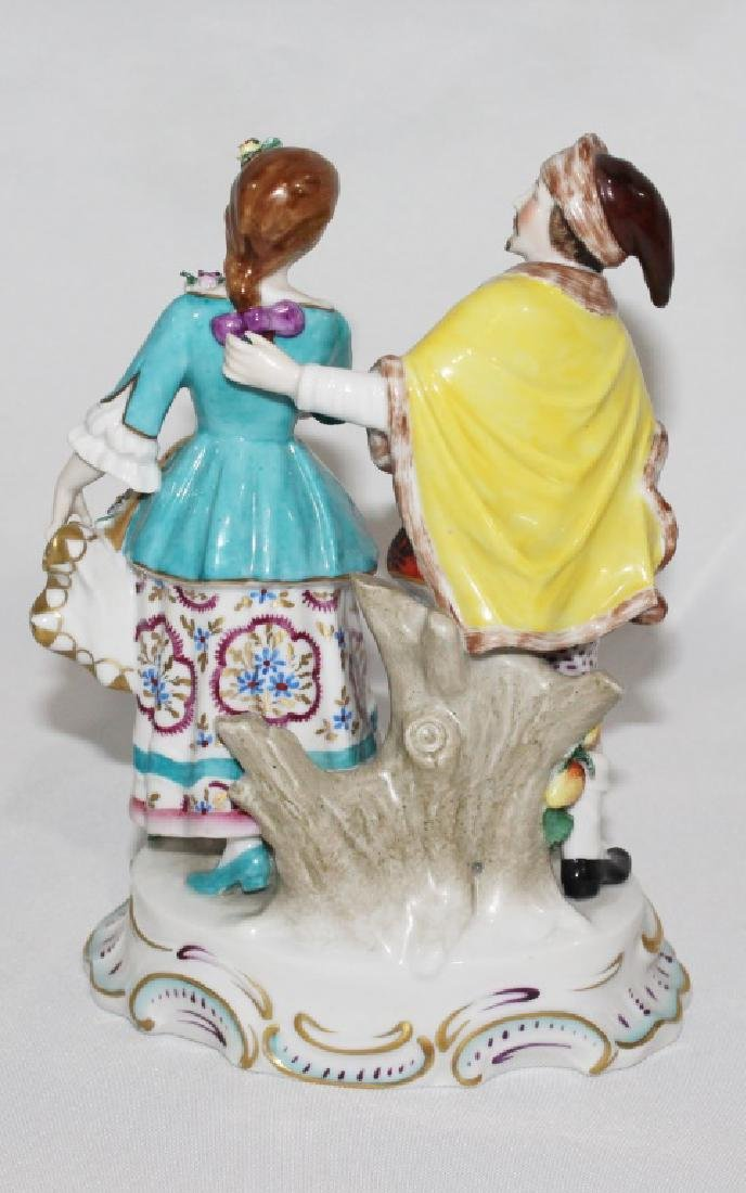Sitzendorf Porcelain Figruine of Courting Couple - 2