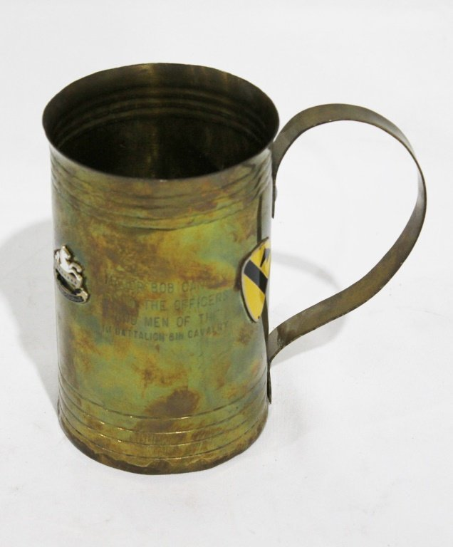 Large Brass Military Drinking Mug