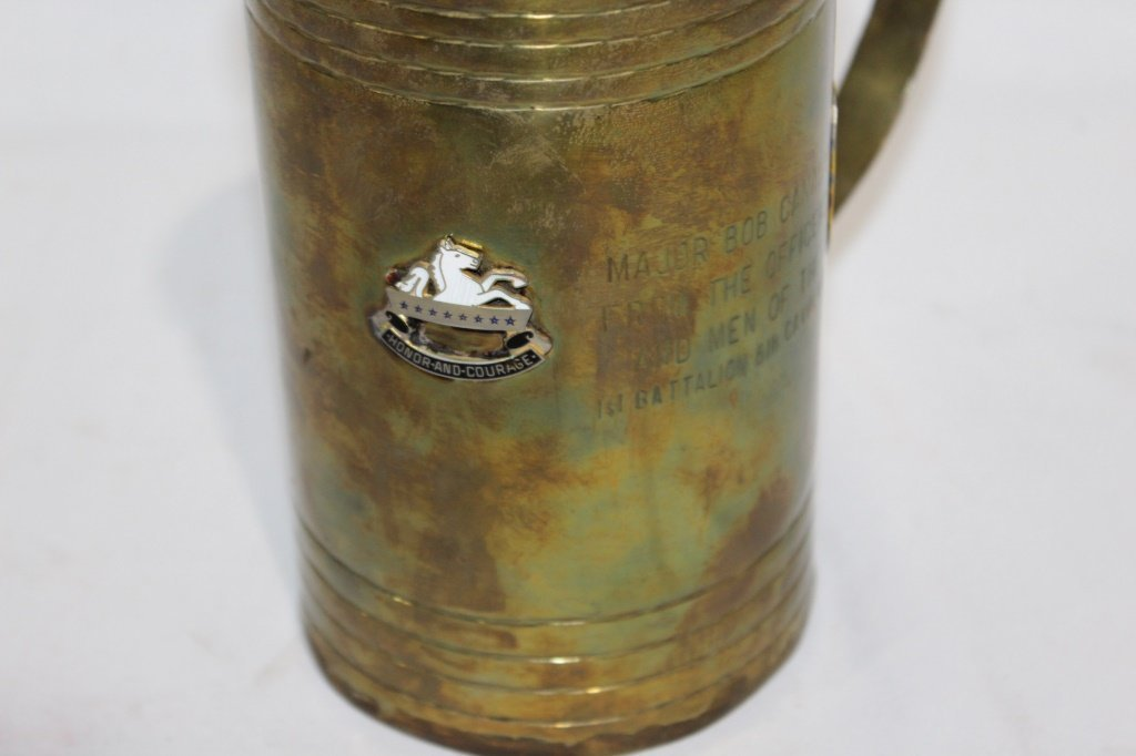 Large Brass Military Drinking Mug - 3
