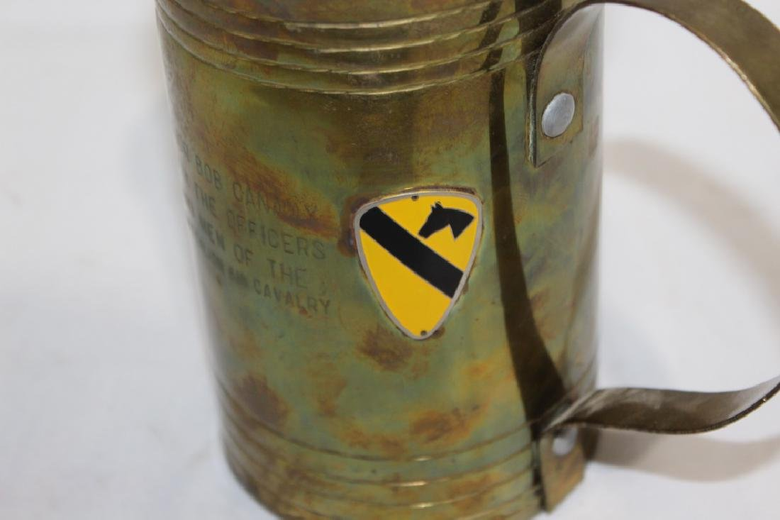 Large Brass Military Drinking Mug - 4