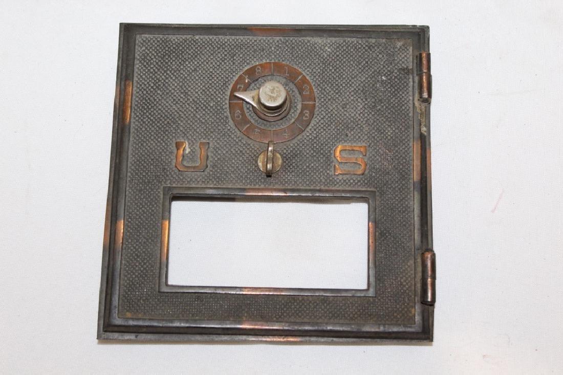 Vintage Post Office Door - Solid Brass