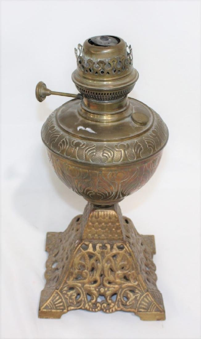 Unique metal oil lamp base