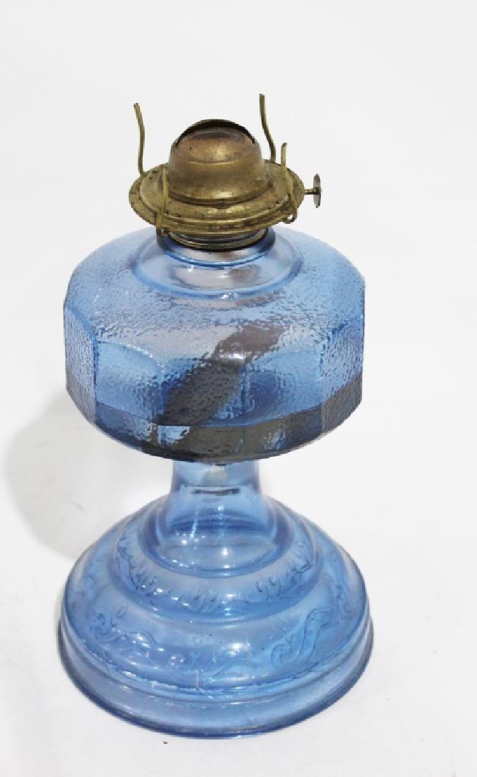 Blue Oil Lamp Base