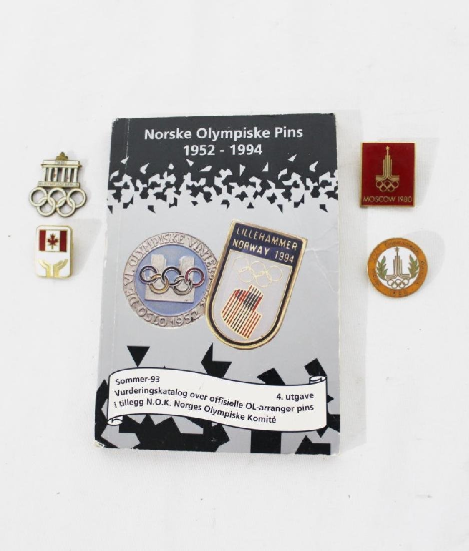 Misc Lot of Olympic Pins & book