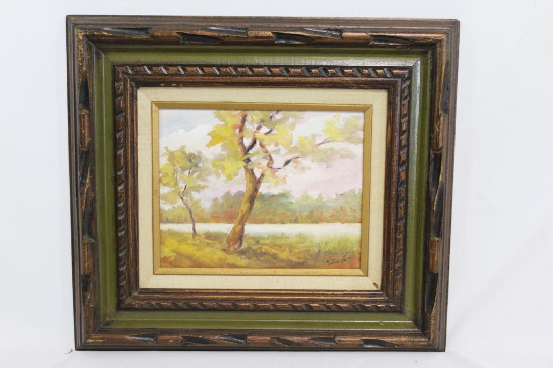Charles Schaefer Signed oil on Hard board