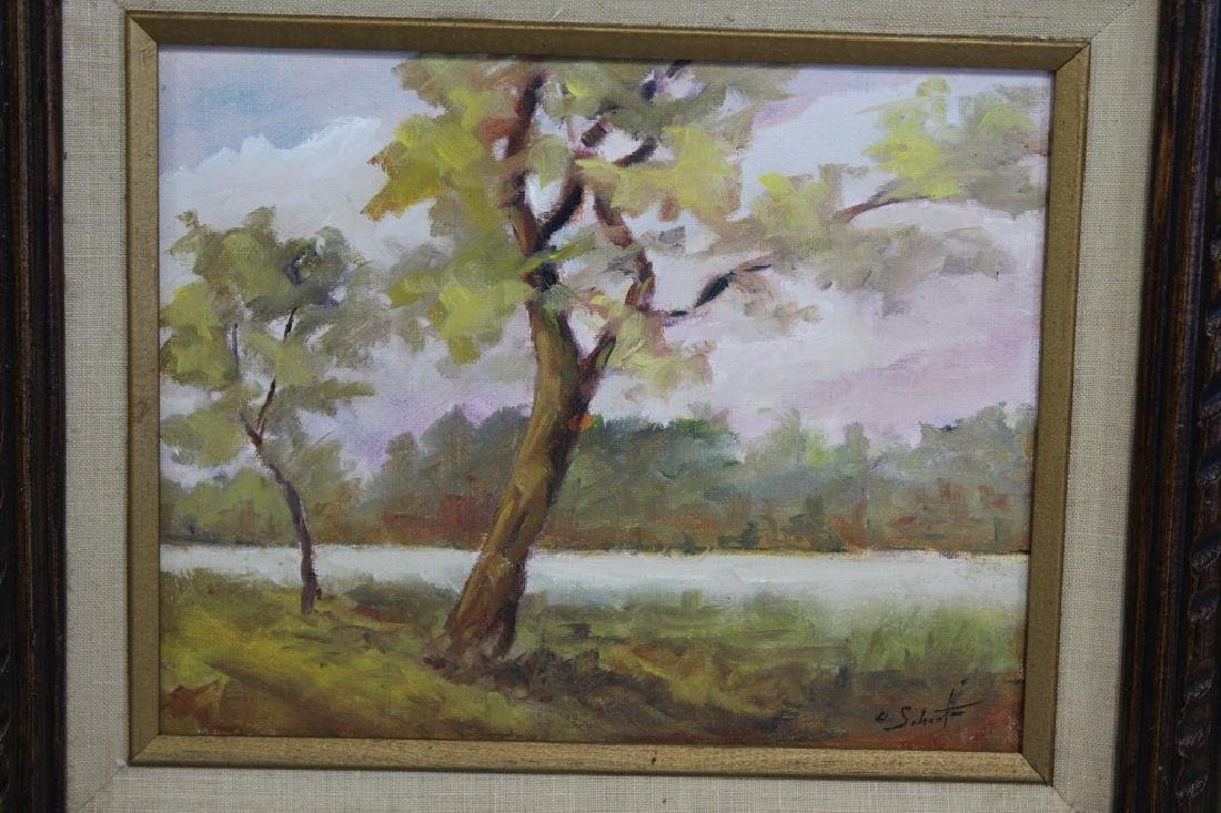 Charles Schaefer Signed oil on Hard board - 2