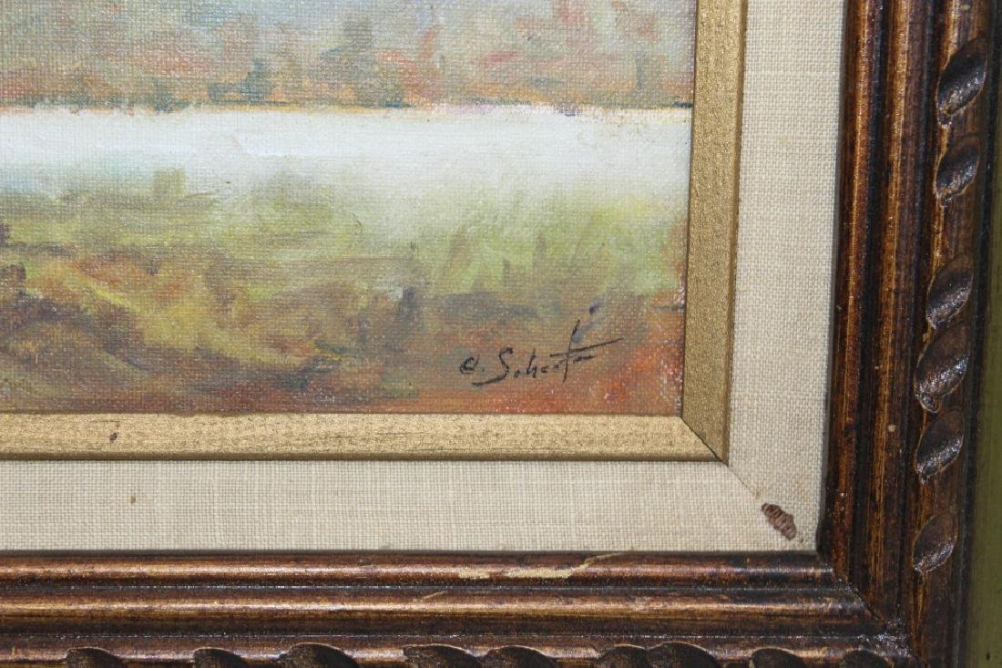 Charles Schaefer Signed oil on Hard board - 3