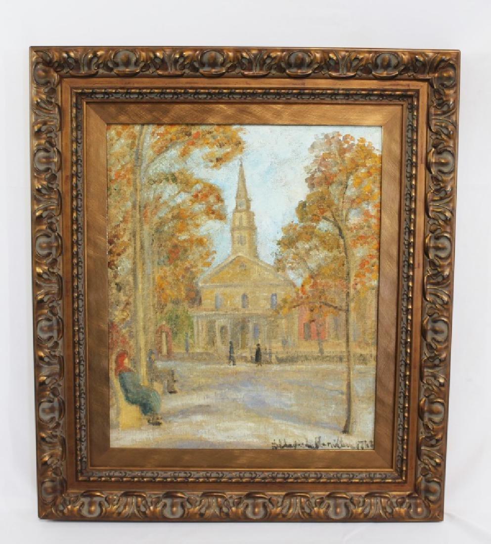 Hildegard Hamiliton (1898-1970) Oil on Canvas St. Marks