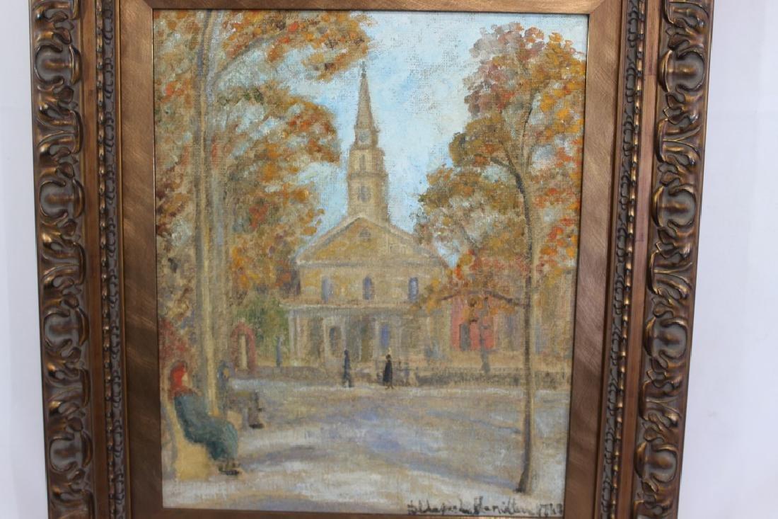 Hildegard Hamiliton (1898-1970) Oil on Canvas St. Marks - 2