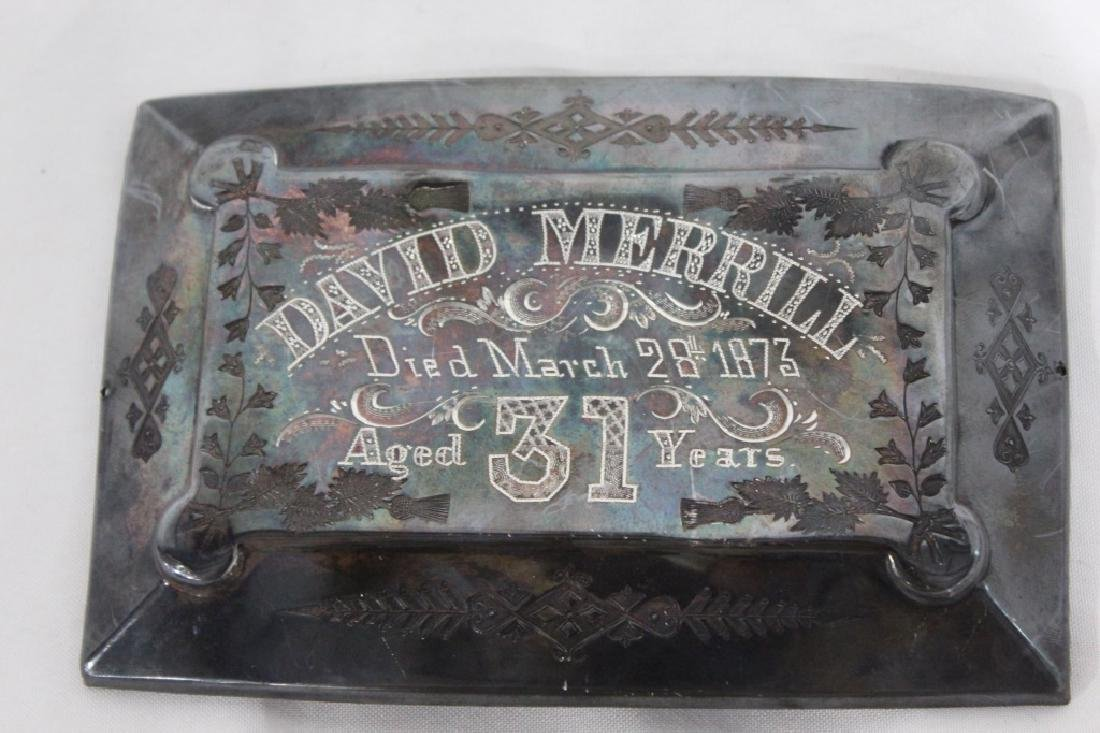 Antique Dr. David Merrill Coffin Plate c.1873 - 3