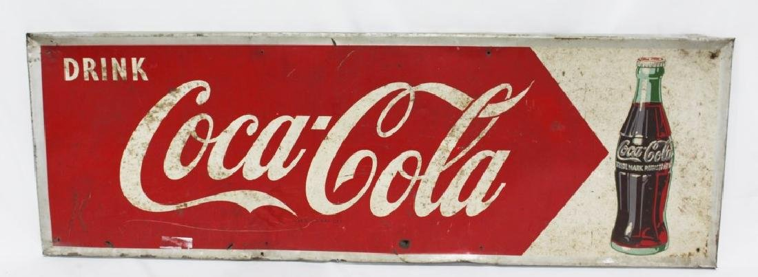 1953 Metal Drink Coca Cola Sign