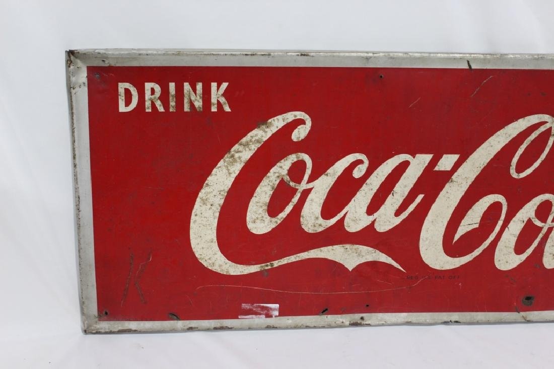1953 Metal Drink Coca Cola Sign - 2