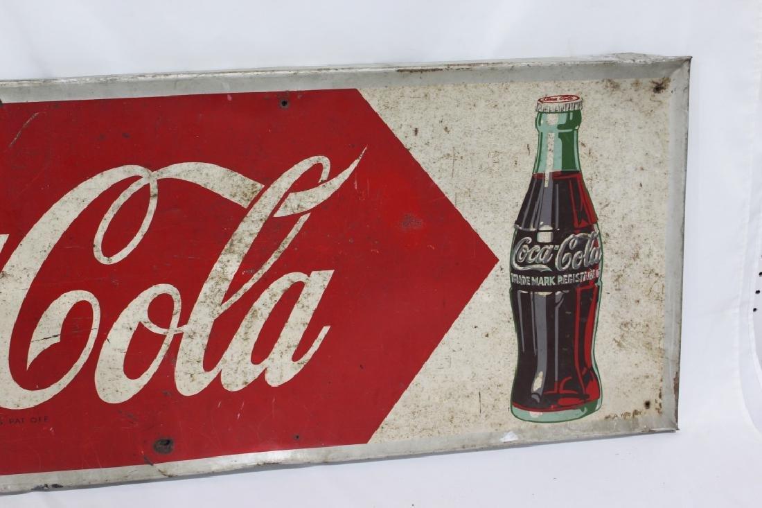 1953 Metal Drink Coca Cola Sign - 3
