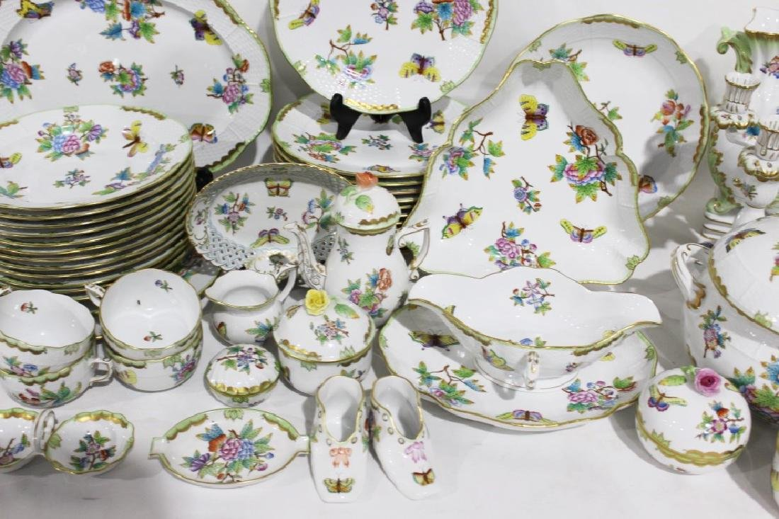 Set of 86 Herend Queen Victoria Pattern China - 10
