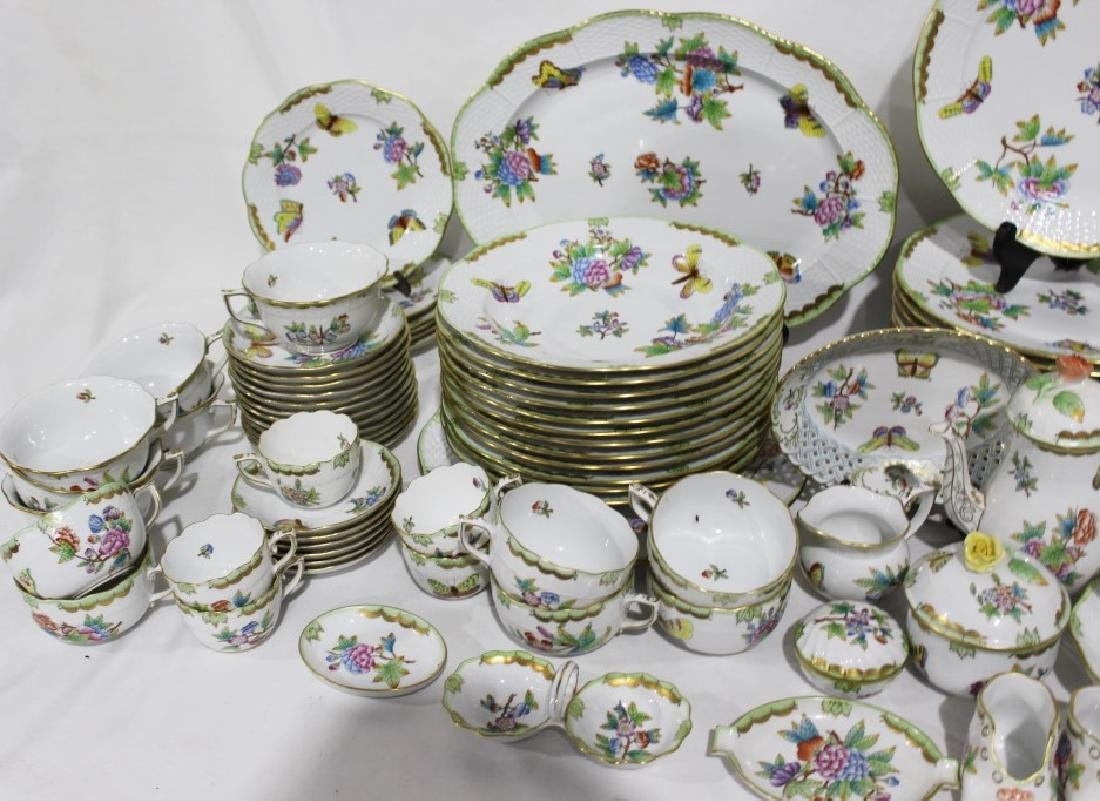 Set of 86 Herend Queen Victoria Pattern China - 11