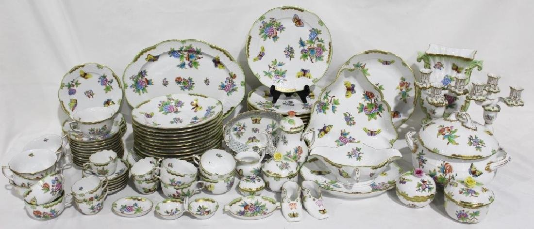 Set of 86 Herend Queen Victoria Pattern China