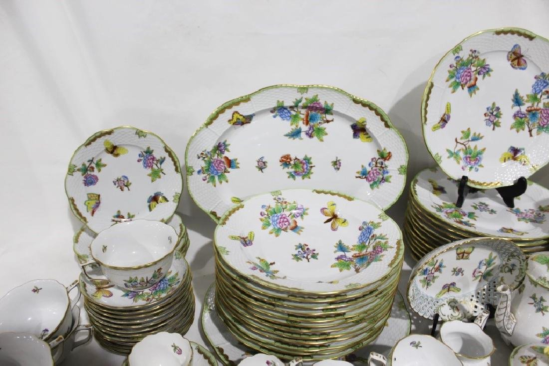 Set of 86 Herend Queen Victoria Pattern China - 5