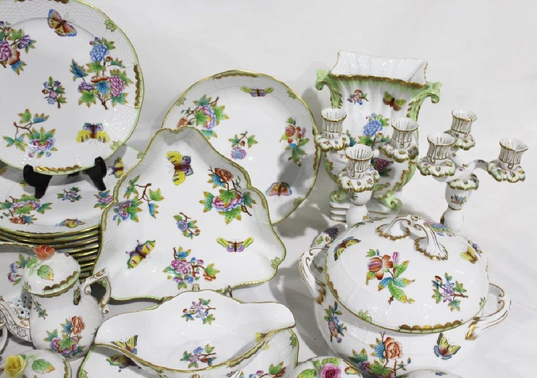 Set of 86 Herend Queen Victoria Pattern China - 7